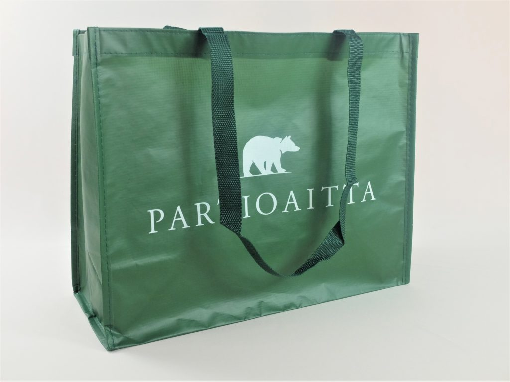 rPET bag with green design