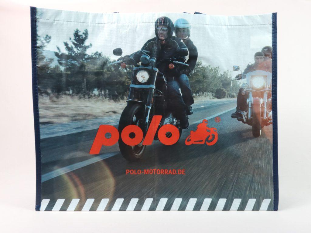 RPET Tragetaschen mit Fotodruck und matter Außenlamination für Polo Läden Motorradausstattung